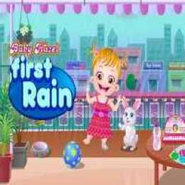 Baby Hazel First Rain Fun
