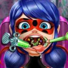 Dotted Girl Throat Doctor
