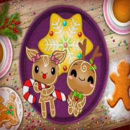 Christmas Gingerbread Color Me