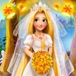 Blonde Princess Wedding Fashion