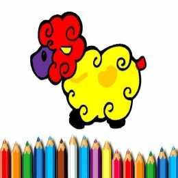 Baby Sheep Coloring Book
