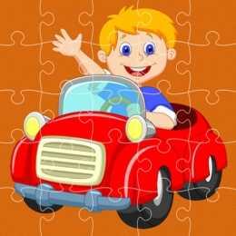 Pedal Cars Jigsaw