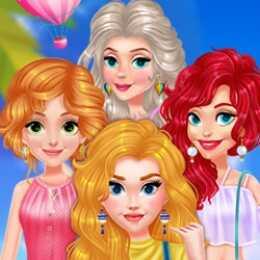 Princess Girls Air Balloon Trip