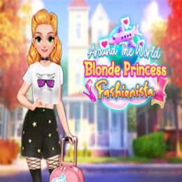 Around The World: Blonde Princess Fashionista
