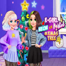 Neon vs E Girl #Xmas Tree Deco